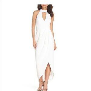 Xscape white crepe choker dress